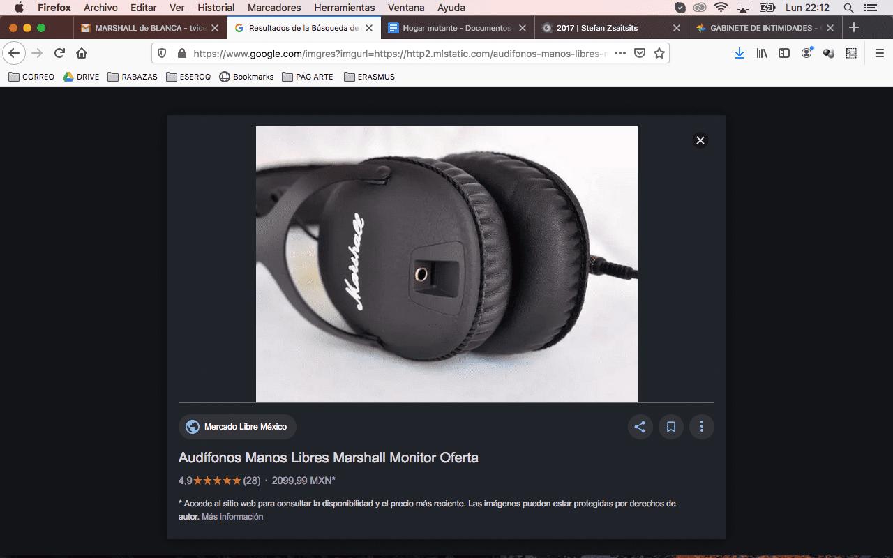 captura de pantalla objeto robado
